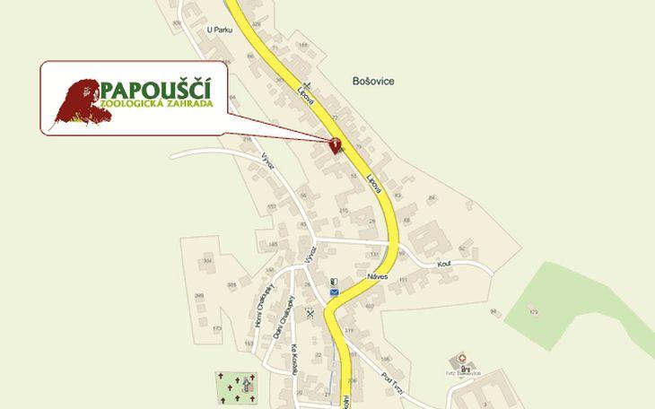 Mapa ZOO - Bošovice