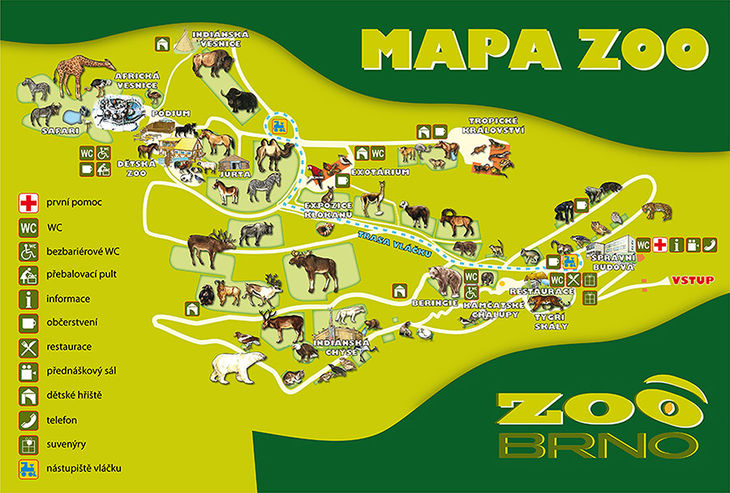 Mapa ZOO - Brno