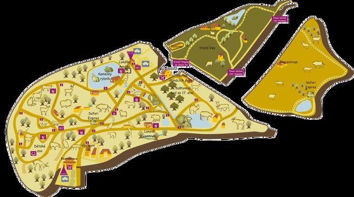 Mapa ZOO - Zoopark Chomutov