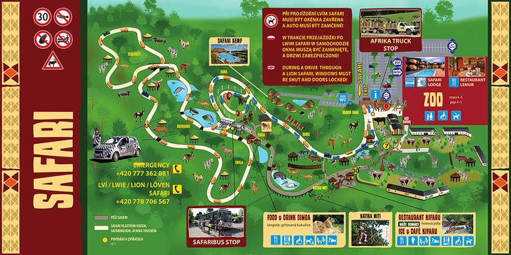 Mapa ZOO - Dvůr Králové