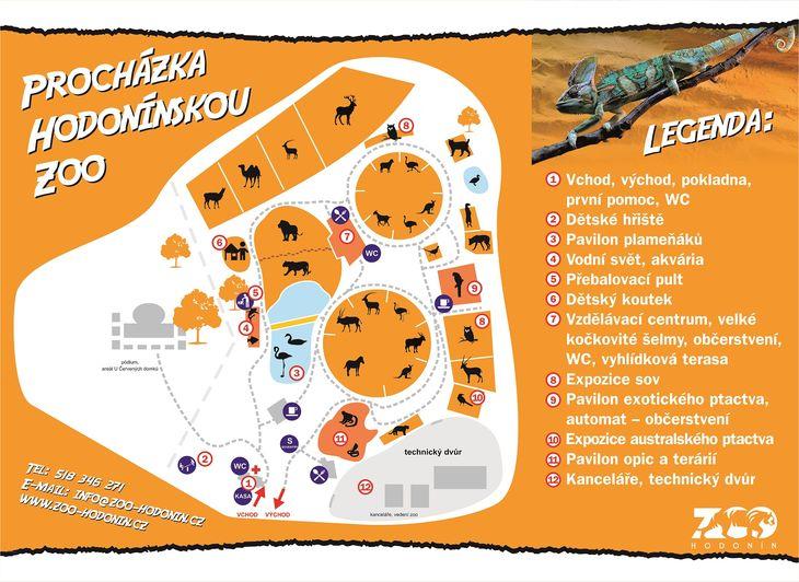 Mapa ZOO - Hodonín