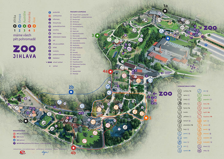 Mapa ZOO - Jihlava