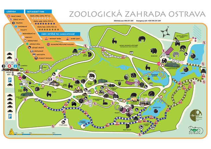 Mapa ZOO - Ostrava