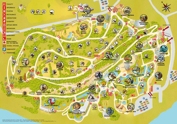 Mapa ZOO - Praha