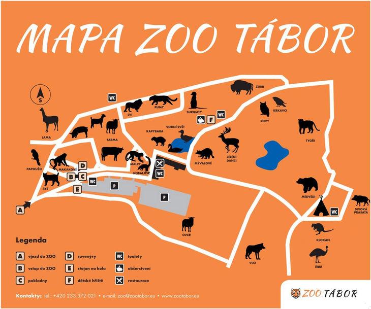 Mapa ZOO - Tábor