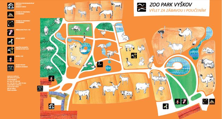 Mapa ZOO - Zoopark Vyškov