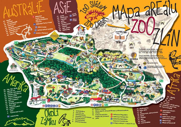 Mapa ZOO - Zlín